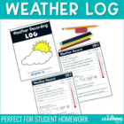 Weather Recording Log