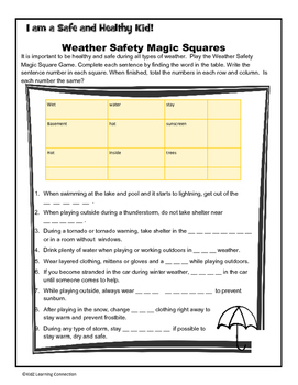 Weather Safety and Math Fun
