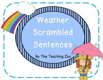 Weather Scrambled Sentences