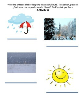 Weather & Seasons (El Tiempo y las Estaciones) bundled