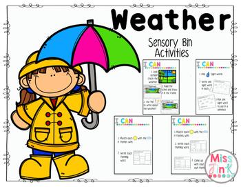 Weather: Sensory Bin Activities