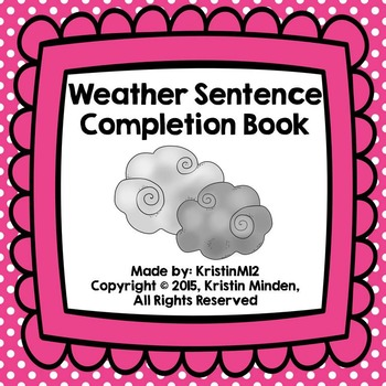 Weather Sentence Completion Book