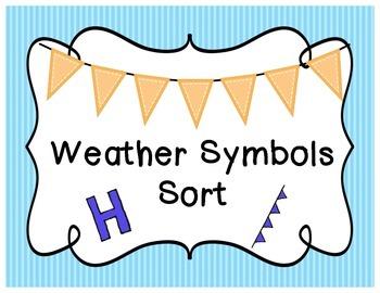Weather Symbols Sort
