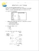 Weather Systems Unit Exam