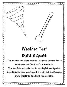 Weather Test - Primary  *English & Spanish*