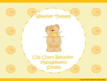 Weather Themed Clip Chart Behavior Management System