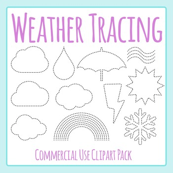 Weather Themed Tracing or Cutting Shapes for Fine Motor Co