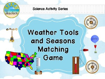 Weather Tools and Seasons Matching Game
