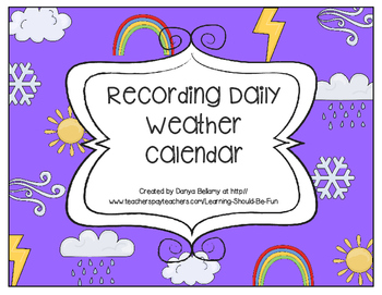 Weather Tracking & Recording Calendar (Cut & Paste)