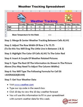 Weather Tracking Spreadsheet