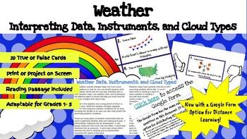 Weather True or False Task Cards