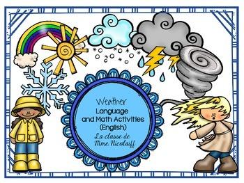 Weather Unit- English Language and Math Activities