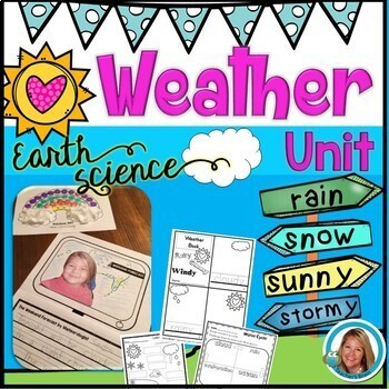 Weather Unit Kindergarten and 1st Grade - Water Cycle, Rai