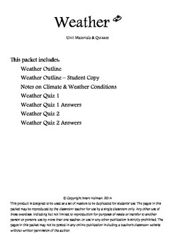 Weather Unit Materials