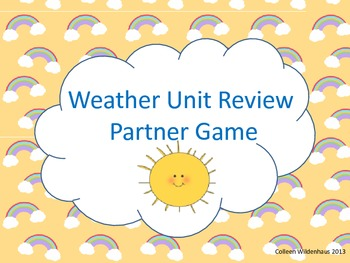 Weather Unit Review Partner Game
