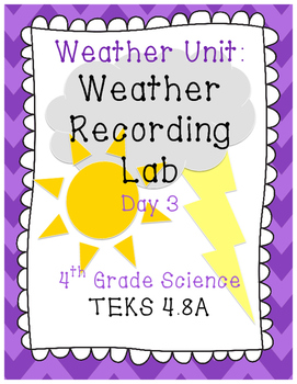 4th Grade Weather Lab
