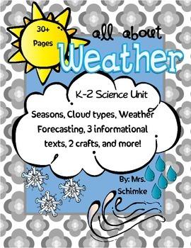 Weather Unit for K-2: ELA integrated