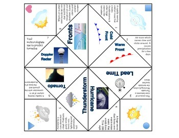 Weather Vocabulary Foldable Graphic Organizer 2