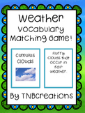Weather Vocabulary Matching Game