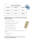 Weather Vocabulary Square