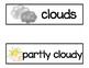Weather Vocabulary Word Cards