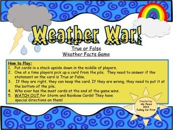 Weather War! True or False Fact Game