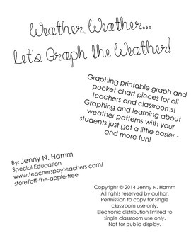 Weather, Weather- Let's Graph the Weather!- Pocket chart w