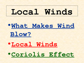 Weather: Winds PowerPoint (Wind Rules, Air Pressure, and M