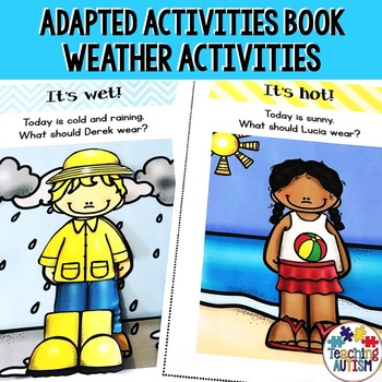 Weather Work Book, Autism Life Skills