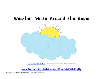 Weather Write Around the Room