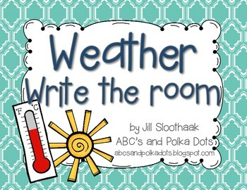 Weather Write the Room {8 words}