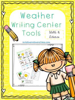 Weather Writing Center Tools: Math and Science Words