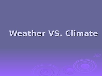 Weather and Climate Power Point Presentation