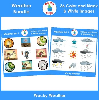 Weather and Temperature Clip Art Bundle