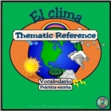 Weather and Topography Vocabulary / Vocabulario del clima