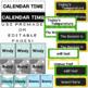 Neon Calendar Set- Editable