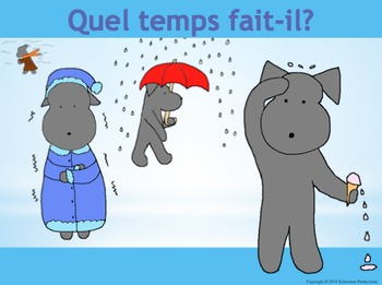 Weather in French with Pepper
