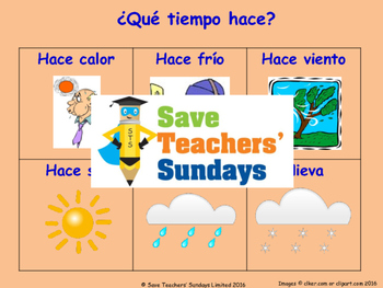 Weather in Spanish Lesson plan, PowerPoint (with audio), F
