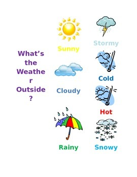 Weather sign for Circle Time