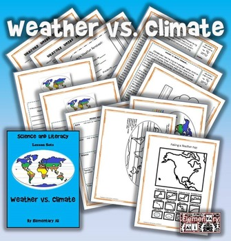Weather vs. Climate Science and Literacy Lesson Set (STAAR