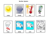 Weather words cut and paste sort ESL real pictures Science