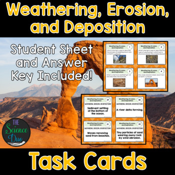 Weathering, Erosion, and Deposition Task Cards