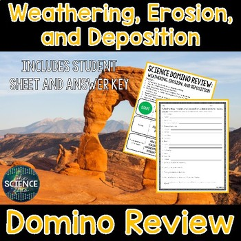 Weathering, Erosion, and Deposition Domino Review