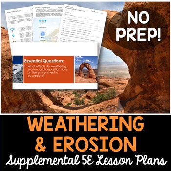Weathering Erosion and Deposition - Supplemental Lesson - No Lab
