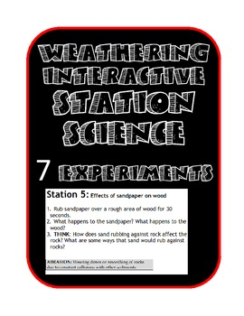 Weathering Lab Station Activities (Chemical & Mechanical)