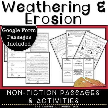 Weathering and Erosion Nonfiction Passages and Activities