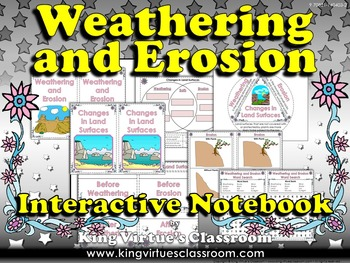 Weathering and Erosion Interactive Notebook - Changes in L