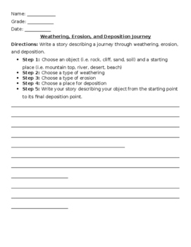 Weathering and Erosion Journey