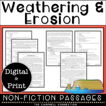 Weathering and Erosion Nonfiction Reading Comprehension Passages