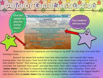 Weathering and Erosion Song - Anchor Chart and Chant Audio